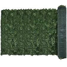 Amazon Com E K Sunrise 6 X 8 Faux Ivy Privacy Fence Screen With Mesh Back Artificial Leaf Vine Hedge Outdoor Decor Garden Backyard Decoration Panels Fence Cover Set Of 1 Garden