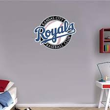 Amazon Com Skyhighprint Kansas City Royals Mlb Baseball Logo Sport Wall Decor Print Sticker 25 X 21 Kitchen Dining