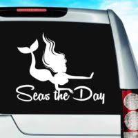 Mermaid Petting A Fish Car Decal Sticker Mermaid Decals