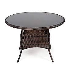 105cm round rattan garden table with
