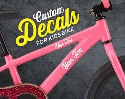 Bike Frame Decal Etsy