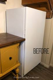 Our Diy Chalkboard Paint Fridge A Black Smeg Knockoff Frugal Family Times