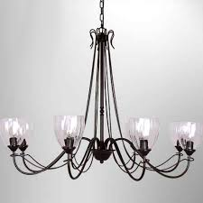 clear glass shades chandelier 7460