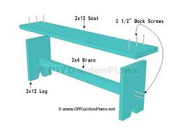 simple plans for a diy board bench