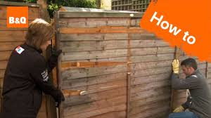 How To Fix A Broken Fence Youtube