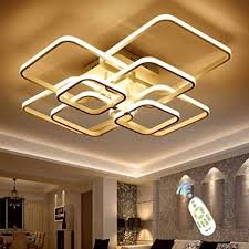 led ceiling light fixture with remote