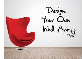 personalised vinyl wall art design your own quote mural decal