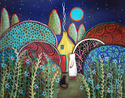 Blue Moon Painting by Karla Gerard