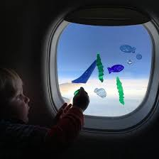 Window Clings Are A Great Toddler Activity For Flying Toddler 1 Year Old 2 Year Old Flight Ai Toddler Travel Activities Airplane Activities Toddler Travel