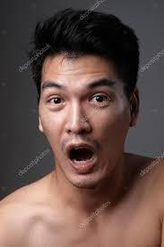 asian man portrait with no makeup show