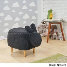 Shop Bajada Fabric Kids Bunny Ottoman Stool By Christopher Knight Home On Sale Overstock 28183981