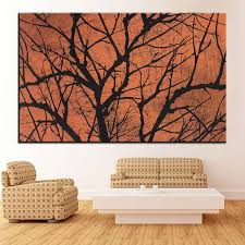 Large Size Printing Oil Painting Halloween Creepy Tree Wall Painting Decor Wall Art Picture For Living Room Painting No Frame Pictures Of Children Painting Pictures For Fabric Paintingpicture Into Oil Painting Aliexpress