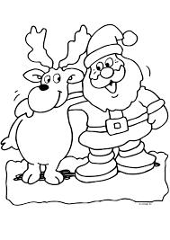 Kerstman Met Rendier Kerst Kleurplaten Kleurplaat Com