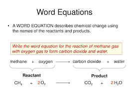 ppt chemical equations reactions