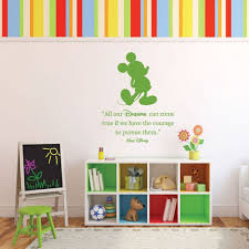 Mickey Mouse Vinyl Wall Decal Quote And Silhouette All Our Dreams Can Come True Customvinyldecor Com