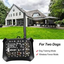 Shop Ownpets Outdoor Wireless Dog Training Shock 2 Collar Fence Pet Electric Trainer System Overstock 29606429