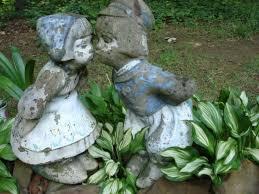 dutch boy girl whimsical garden art