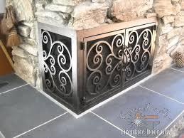 l shaped doors custom fireplace doors