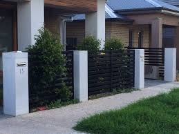 1200mmh Pillar With No Moulding Modern Fence Design Fence Design Modern Fence