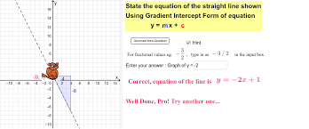 forming equation of a straight line