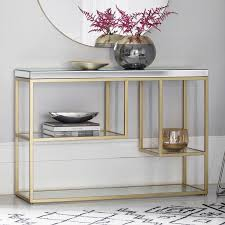 pippard console table with mirrored top