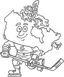 Canadese Kaart Een Hockeyspeler Kleurplaat Gratis Kleurplaten