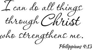 Empresal Wall Decal I Can Do All Things Through Christ Who Strengthens Me 4 13 For Sale Online