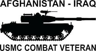 Usmc Combat Veteran 3 Mil Vinyl Sticker For A Car Or Truck Window 6 99 Picclick