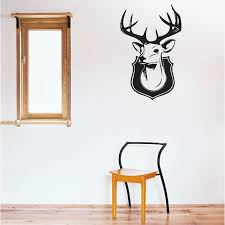 Deer Head Vinyl Wall Art Decal