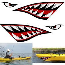 Sporting Goods Kayak Shark Teeth Eyes Pack Of 2 Decal Canoe Sticker River Raft White Water Sporting Goods Climbing Mountaineering