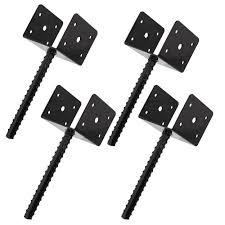 Bisupply Concrete Post Anchor 4x4 Post Base Spike Fence Pergola Deck Bracket 4pk Ebay