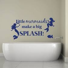 little mermaid wall stickers quotes home decor wall decals digital