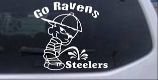 Go Ravens Pee On Steelers Car Or Truck Window Decal Sticker Rad Dezigns