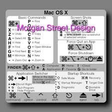 Mac Keyboard Shortcut Vinyl Decal Sticker Macbook Air Pro Ebay