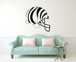 Amazon Com Advanced Store Cincinnati Bengals Logo Wall Vinyl Decals American Football Helmet Game Team Vinyl Decals Vinyl Murals Stickers Removable Decor Pt1153 Home Kitchen