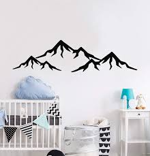 Amazon Com Mountain Wall Decals Nursery Wall Art Room Wall Decor Bedroom Wall Decal Home Decor Vinyl Decal And Stick Wall Decals Home Kitchen