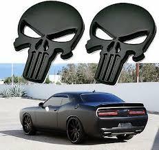2x Punisher Skull Logo Headlight Decals Etched Glass Vinyl Sticker Mopar 7 95 Picclick