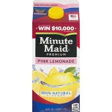 minute maid premium pink lemonade 59