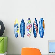 Blue Surfboard Wall Stickers Wallmonkeys Com
