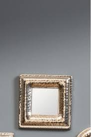 libra hammered silver square mirror