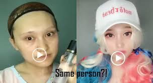 10 crazy china makeup transformation