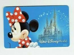 walt disney world gift card minnie