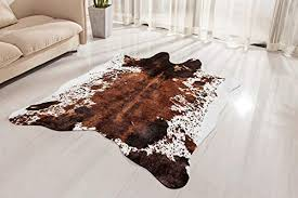 faux cowhide rug large 4 6 x 6 6