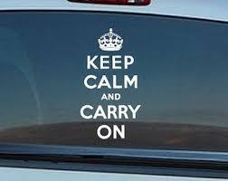 Keep Calm Car Decal Etsy