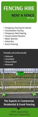 Rent A Fence Pty Ltd Builders Contractors Equipment Hire Sydney