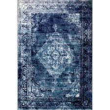 wisser vintage navy blue area rug