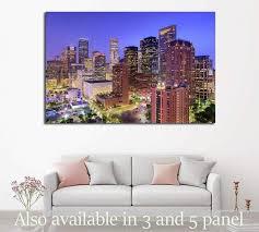 Houston Texas Usa Downtown City Skyline 2073 Ready To Hang Canvas P Zellart Canvas Prints