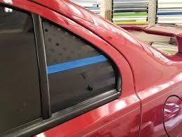 Thin Blue Line American Flag Quarter Window Decal 2008 2017 Lancer Evox Jdmfv Fanatic Wraps