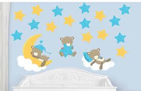 Teddy Bear Decal Fabric Bear Decal Nursery Wall Decal Boy Nursery Decal Baby Boy Decal Reusable Wall Decal Removable Wall Decal