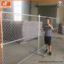 China Hot Dipped Galvanized Chain Link Temporary Fence Very Hot Sale In Usa 6ft Height 8ft Height And A 8ft 9ft 10ft 12ft 9 5ft Width China Temporary Fence Temporary Fencing Panels